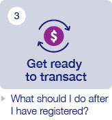 Get ready to transact-What should I do after I have registered?