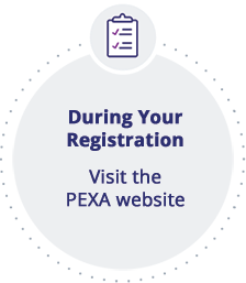 During Your Registration Visit the PEXA website